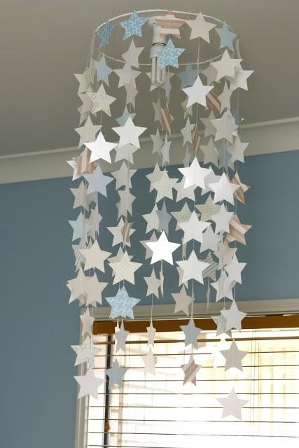 Lámpara de Estrellas colgante de Papel enmicado