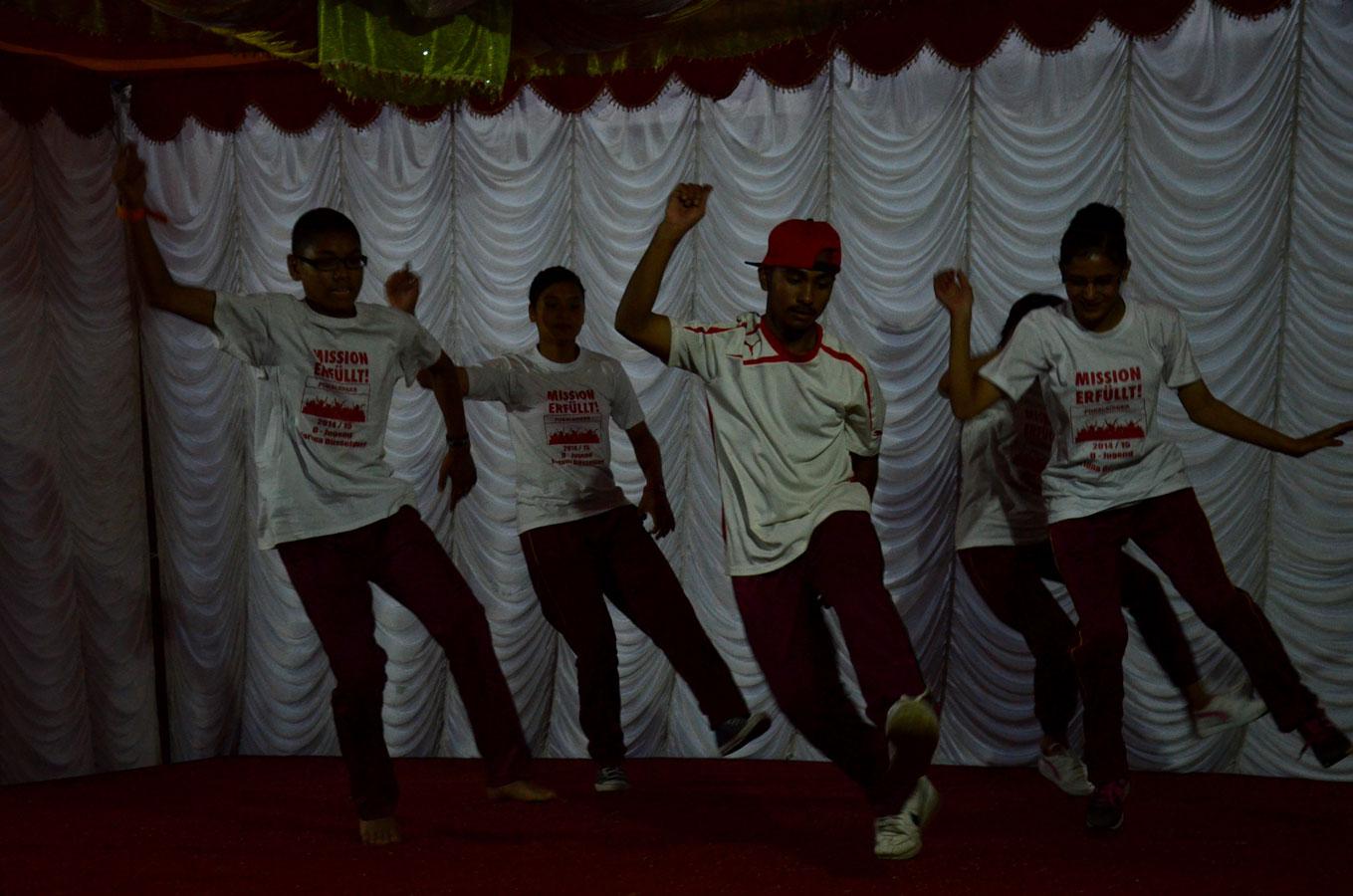 Die Breakdance-Aufführung