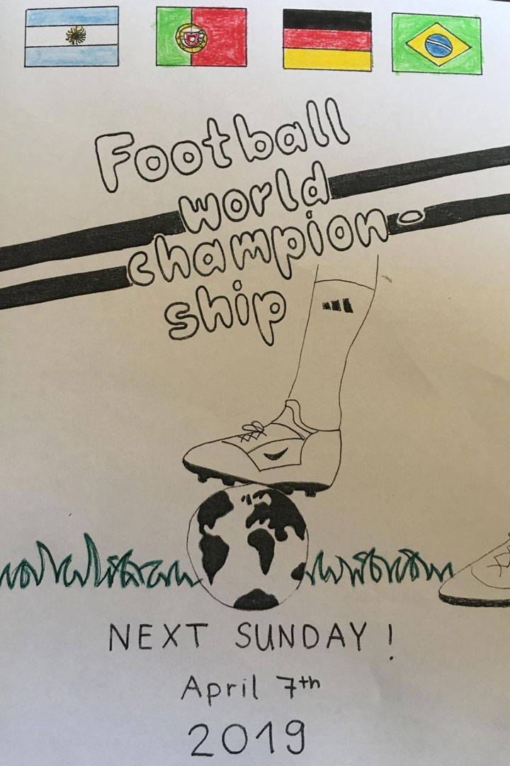 Plakat Football World Championship 7. April 2019