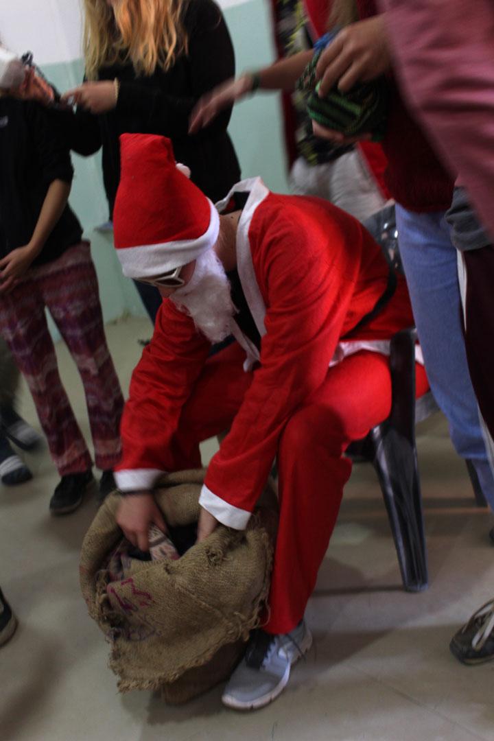 Auch Santa Claus durfte an Weihnachten natürlich nicht fehlen. Was er wohl in seinem Sack mitgebracht hat?