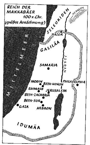 Karte des Makkabäer-Reiches