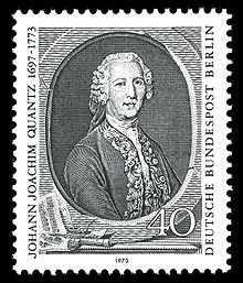 Joachim Quantz Briefmarke