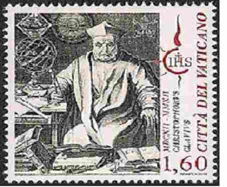 Clavius-Briefmarke der vatikanischen Post