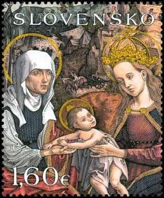 Anna selbdritt Briefmarke