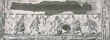 Anbetung der Vier Weisen in den römischen Katakomben