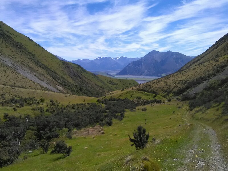 Looking back at Rakaia River