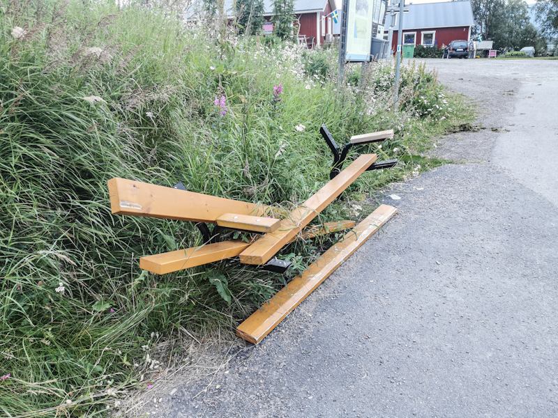 This Abisko bench somewhat reflects the way I feel