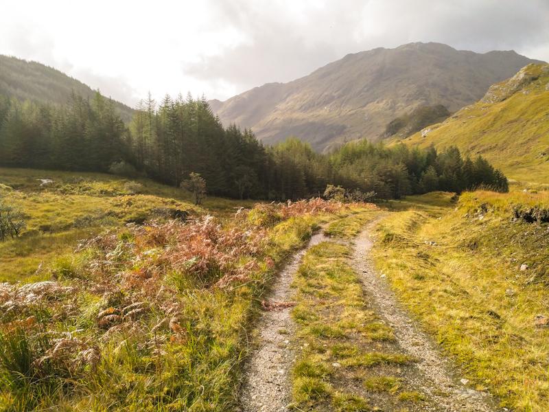 Some sun while descending into Glenfinnan