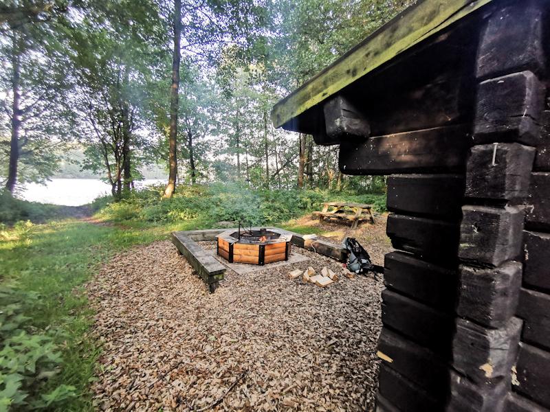 Hjälm vindskydd with its fancy fire place