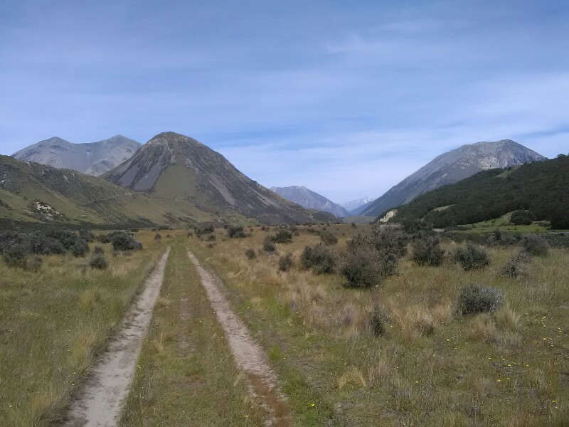 Following a 4WD track towards Harper Village