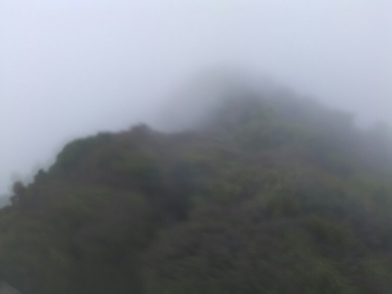 The summit. The lens is wet. Sorry :/ But not much to see anyway...