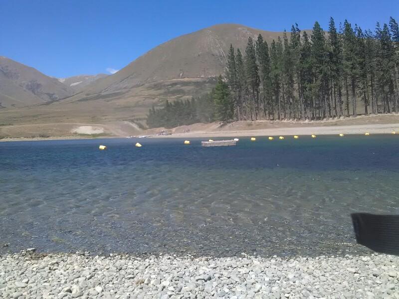 Refreshing swim at Lake Camp