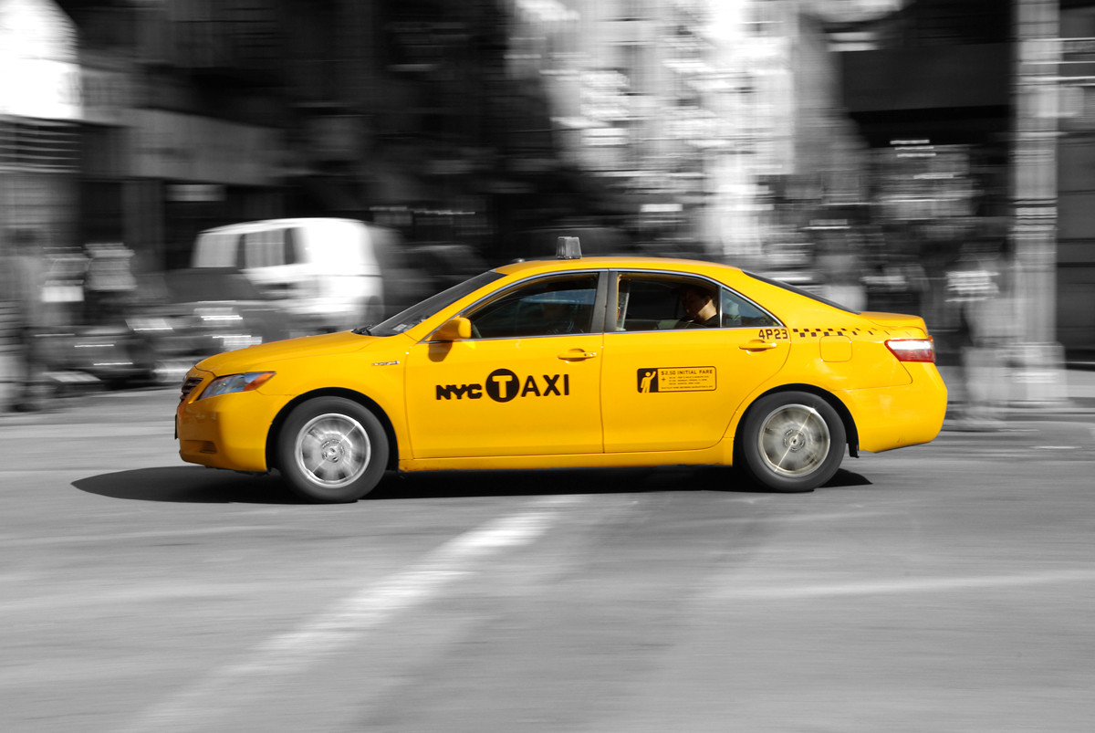 Taxi, Taxi, Manhattan, New York, USA (C9)