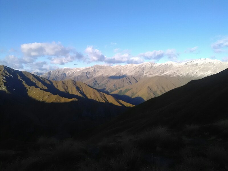 The ranges covered in fresh snow