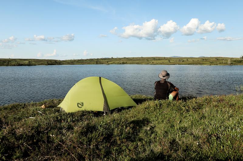 Camping right at the lake