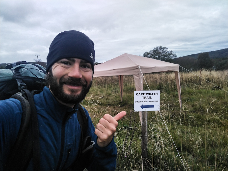 Wohoo, the first Cape Wrath Trail sign!