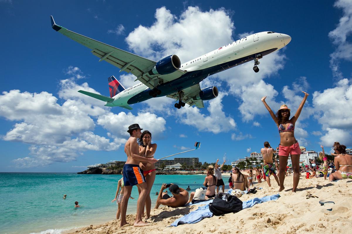 Delta Boeing 757, Maho Beach, Saint Maarten