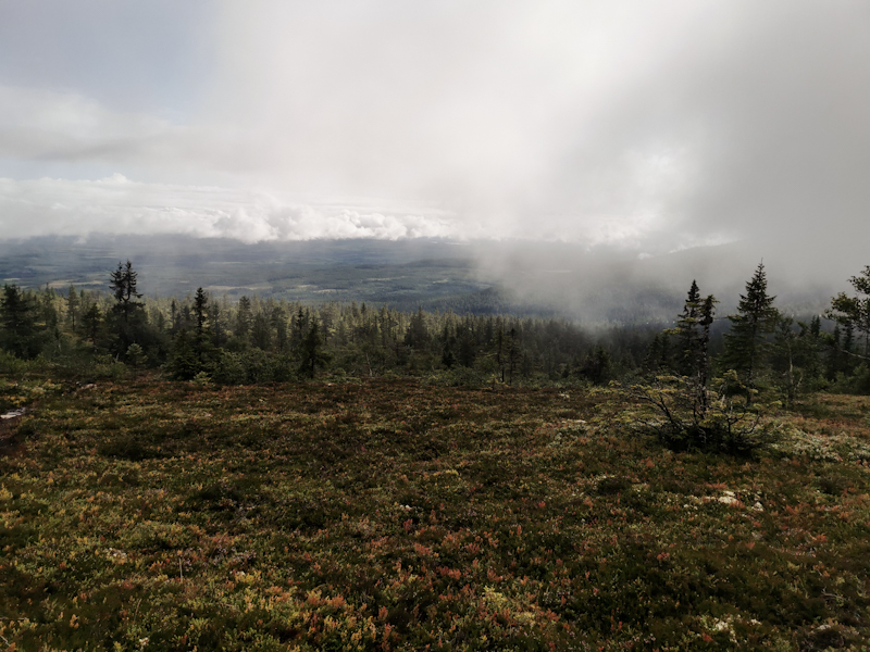 Low clouds hanging around the slop3