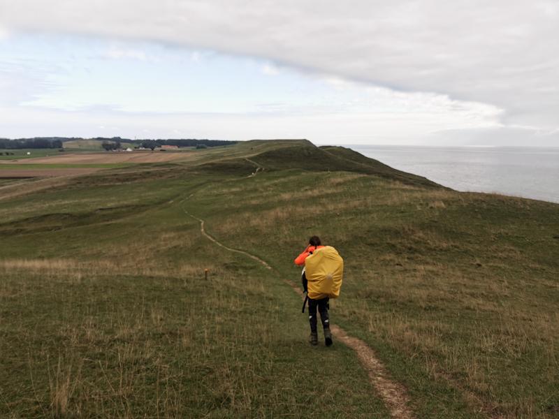 Julia leading the way on Skåneleden