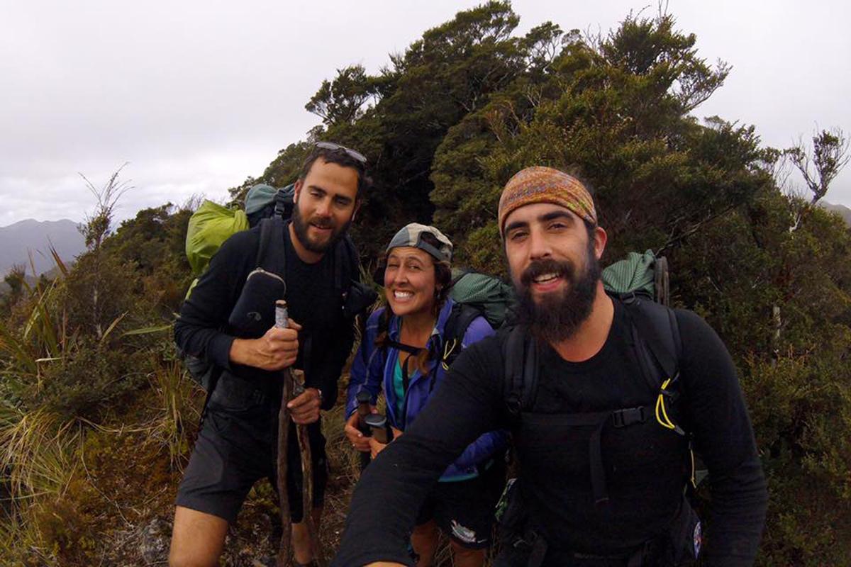 Rose and Dylan in the Tararuas