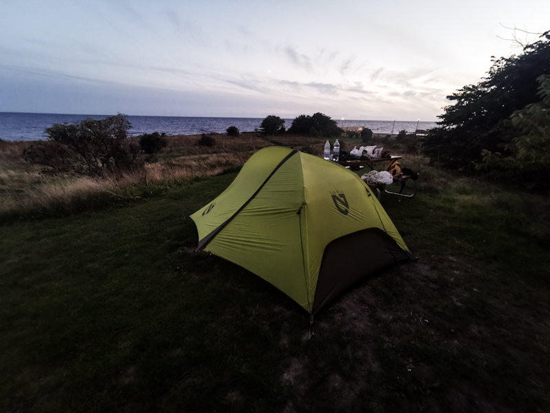 Camping right there