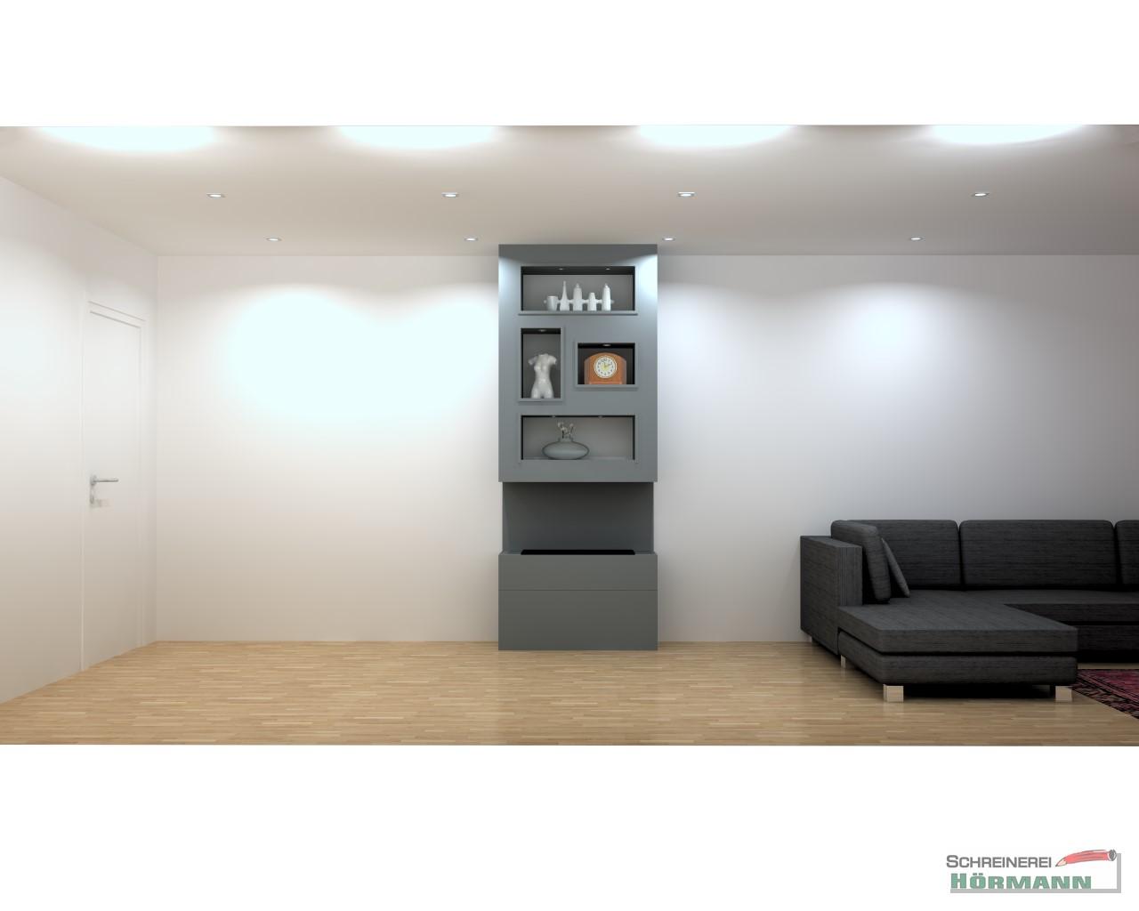 Entwurf Umbau einer Elektrofeuerstelle