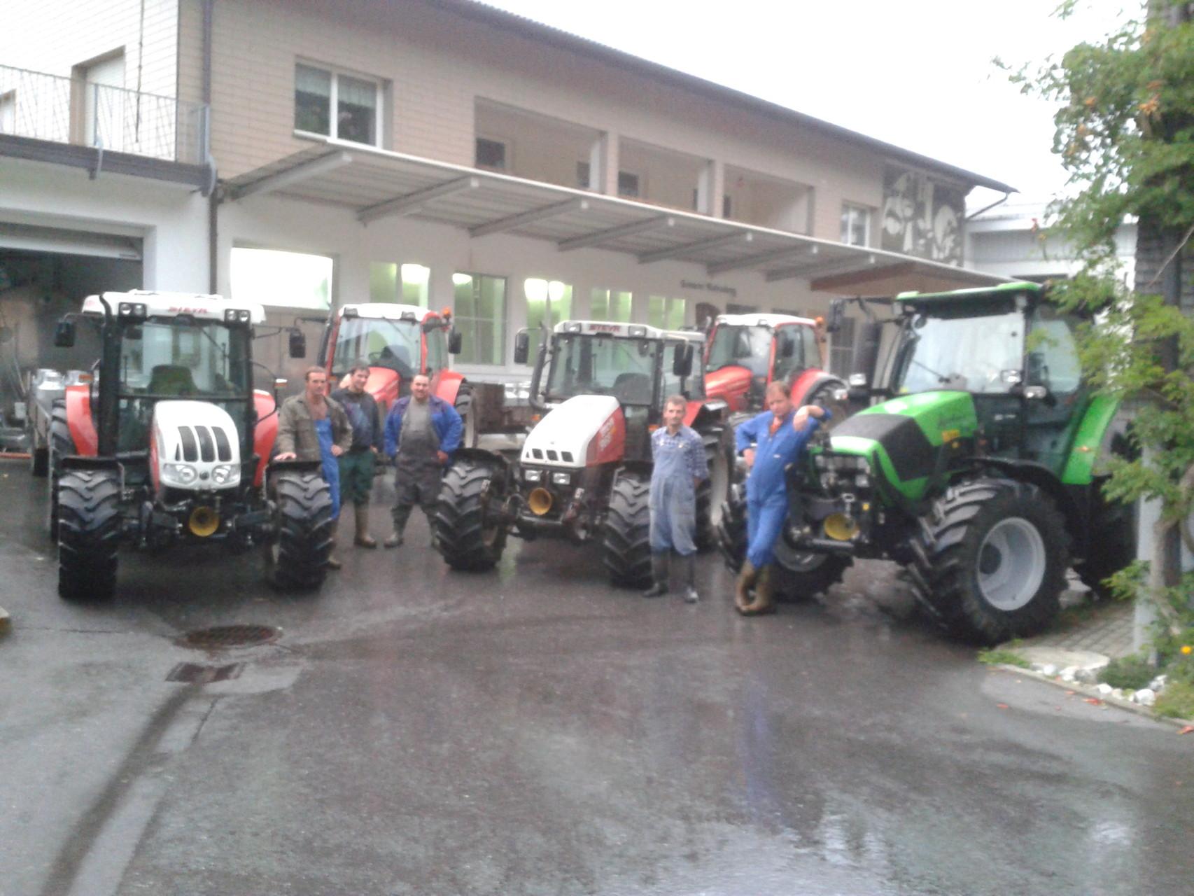 Letzte Anlieferung mit den Milchfuhrwerken
