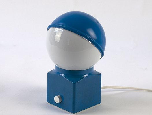 1970s Tischlampe von ERCO in blau
