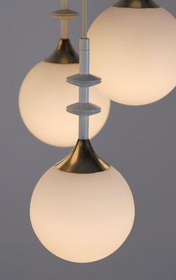 Kugellampe Glas/Messing 1960s