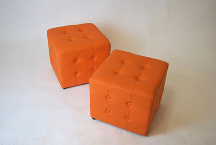 Sitzwürfel orange 1970s