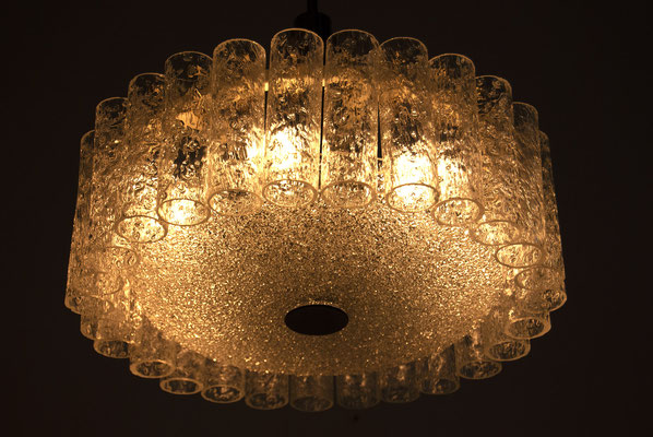 Glass Hanging Lamp by Doria Leuchten 1960s