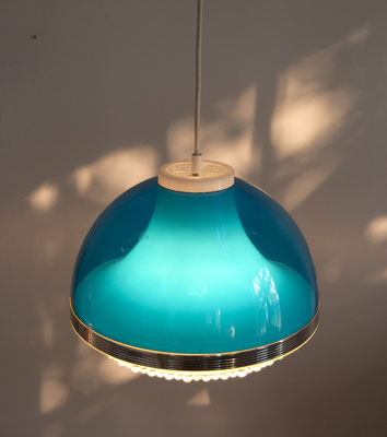 1970s Plastic Hanginglamp in blue