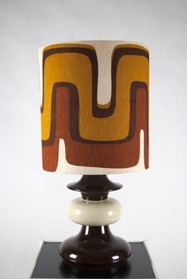 Große 1970s Tischlampe mit Keramikfuß