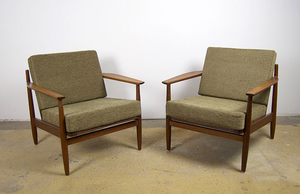 Easy Chair Teak, 60er Jahre,