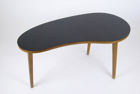 Kidney shaped wooded Coffee Table 1950s