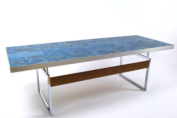 Glass Mosaic Table by Berthold Müller 1970s