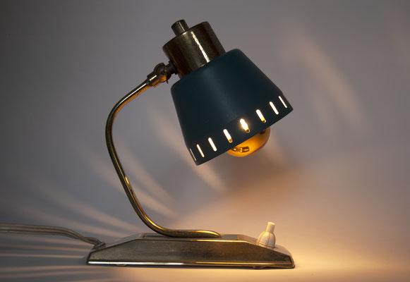 1940s Nachttisch Leuchte Messing