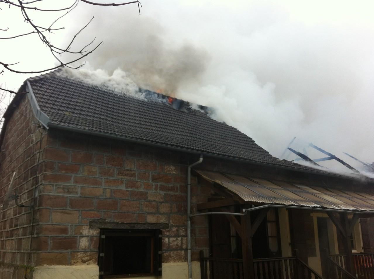 Incendie d une habitation individuelle sur yssandon sdis for Habitation individuelle
