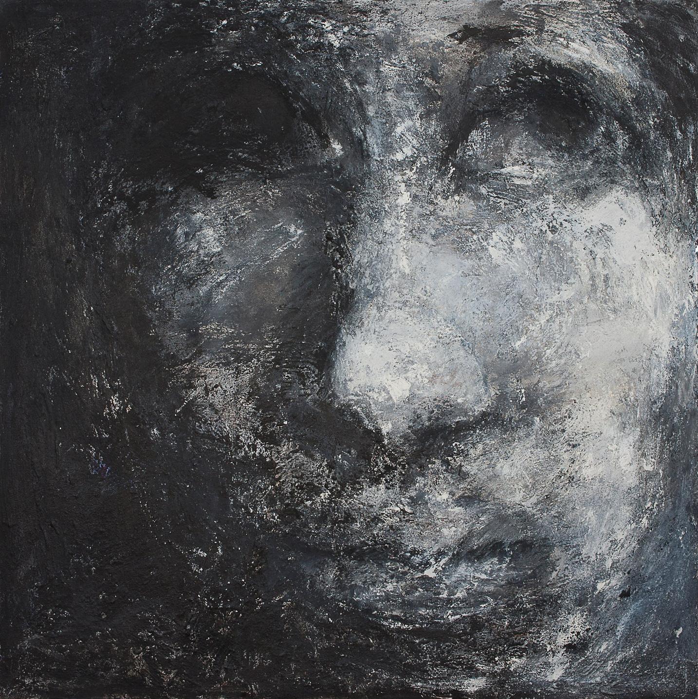 o. T., 2005, Mischtechnik auf Leinwand, 140 x 140 cm