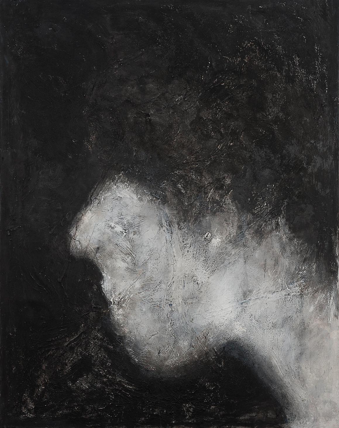 Die Gesichtslosen, 2000, Mischtechnik auf Leinwand, 180 x 140 cm