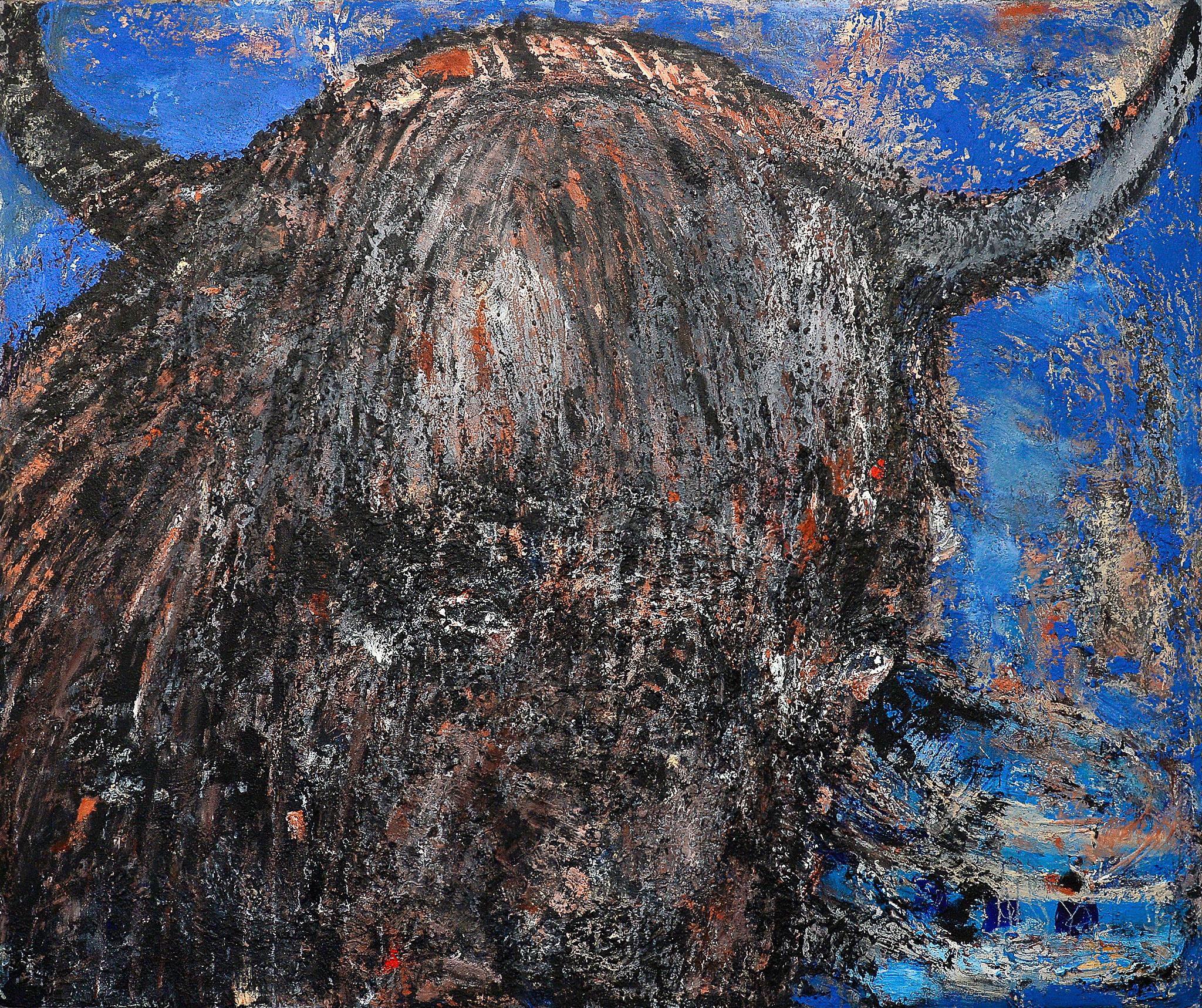 Minotaurus, 2016, Mischtechnik auf Leinwand, 200 x 240 cm