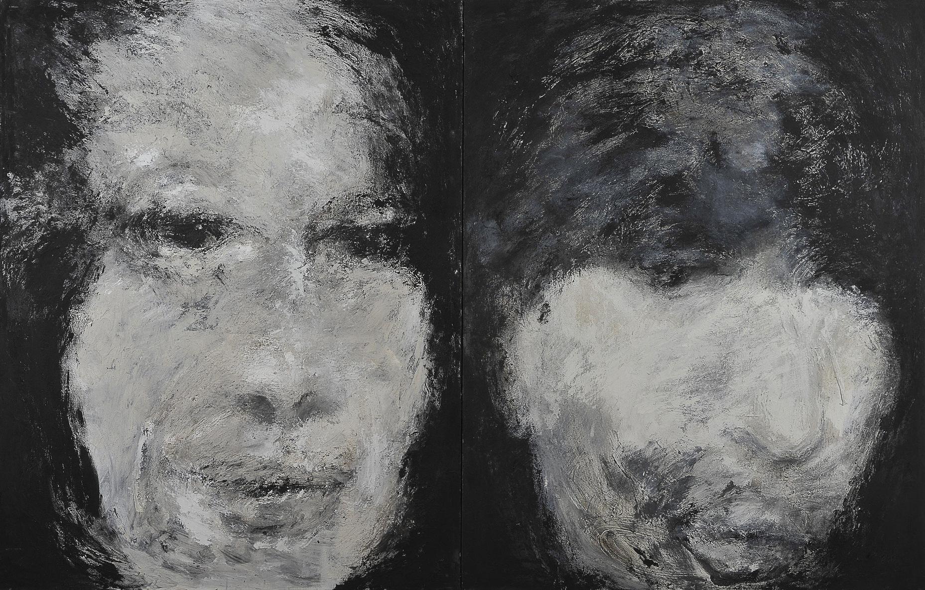 o. T., 2005, Mischtechnik auf Leinwand, 180 x 140 cm