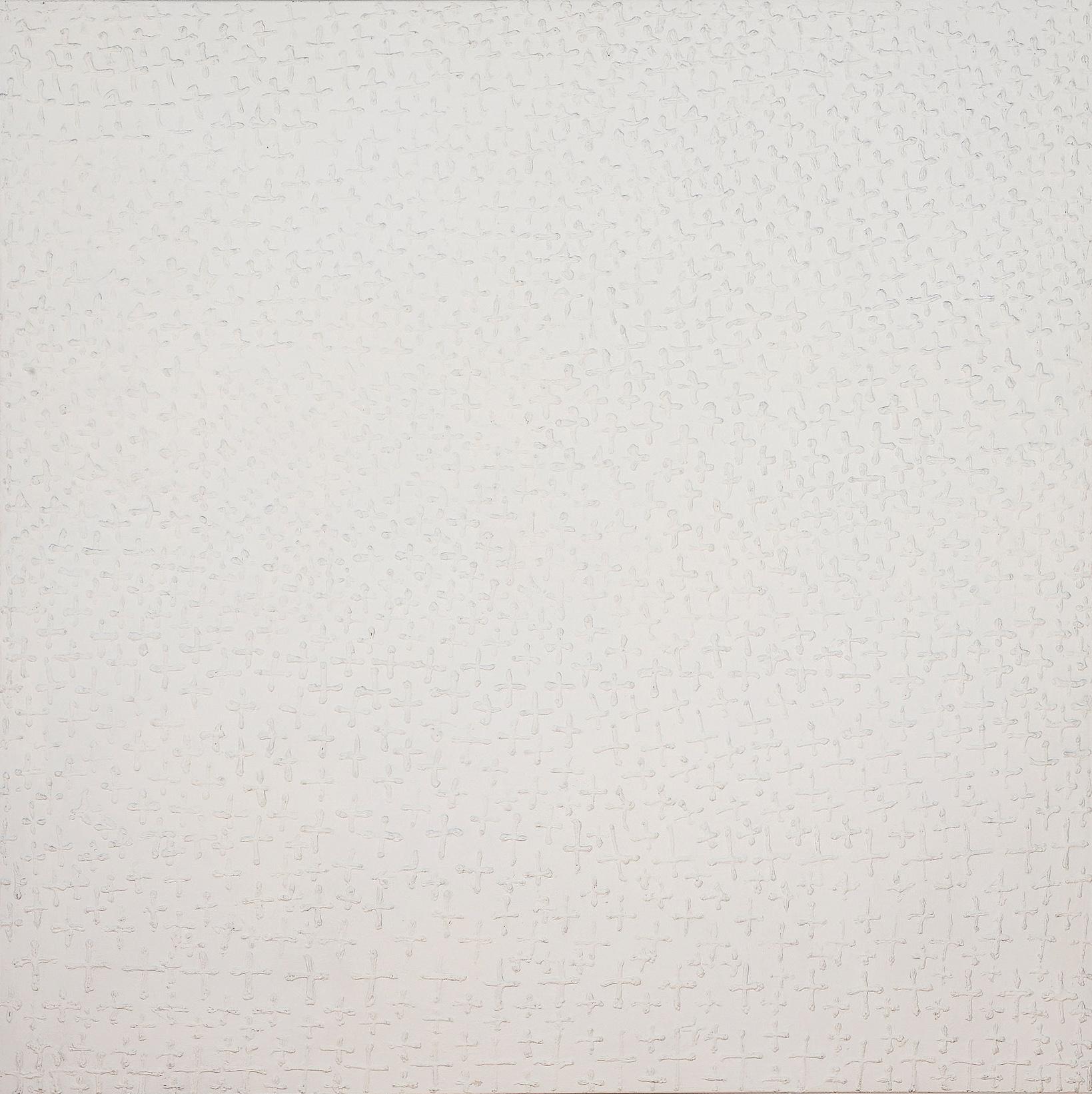 O. T., 2009, Mischtechnik auf Leinwand, 180 x 180 cm