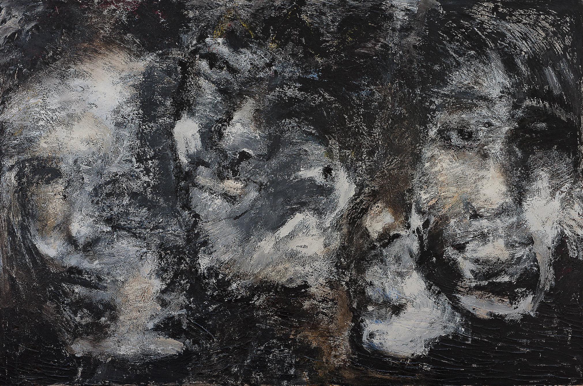 o. T., 2005, Mischtechnik auf Leinwand, 200 x 140 cm