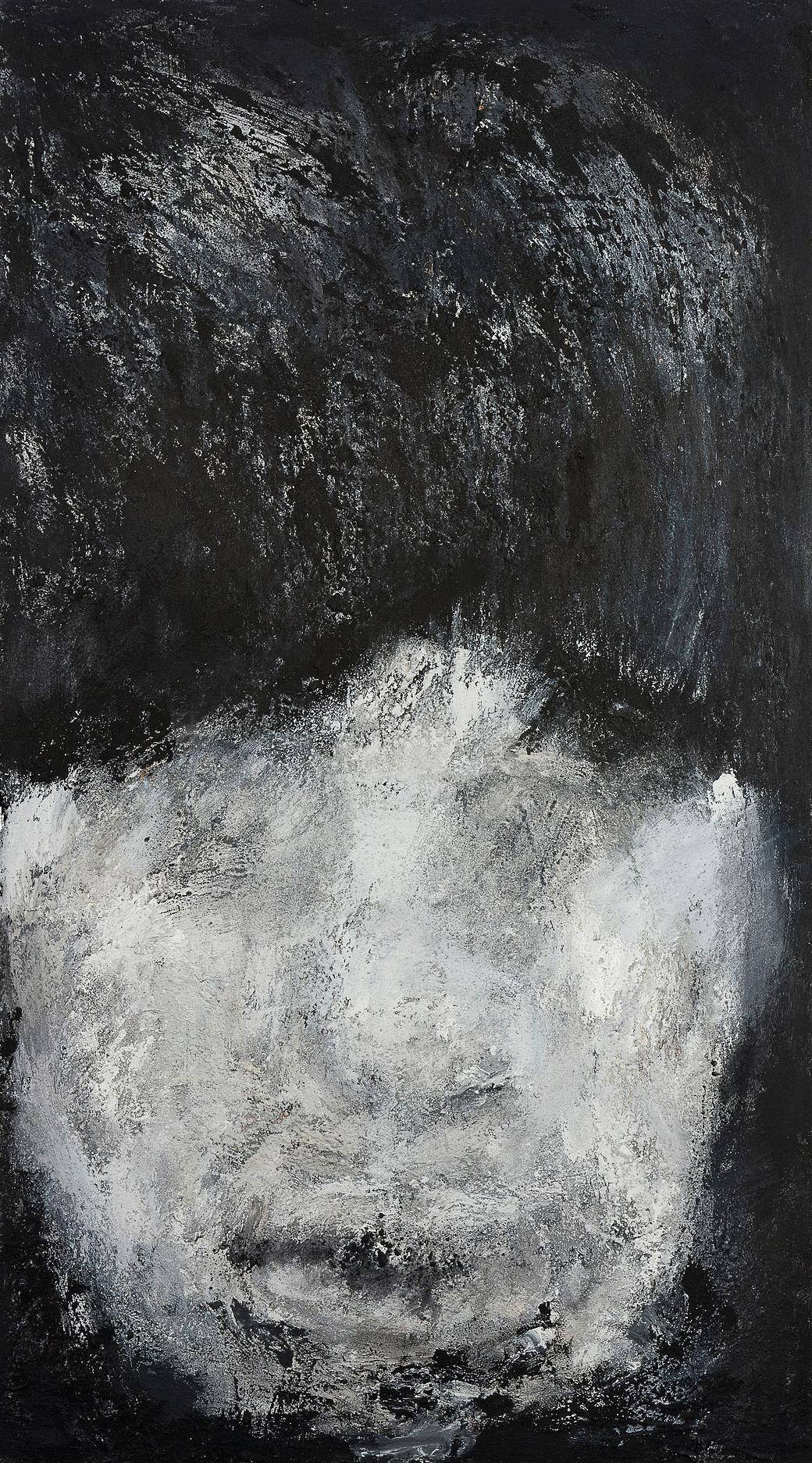 o. T., 2005, Mischtechnik auf Leinwand, 180 x 100 cm
