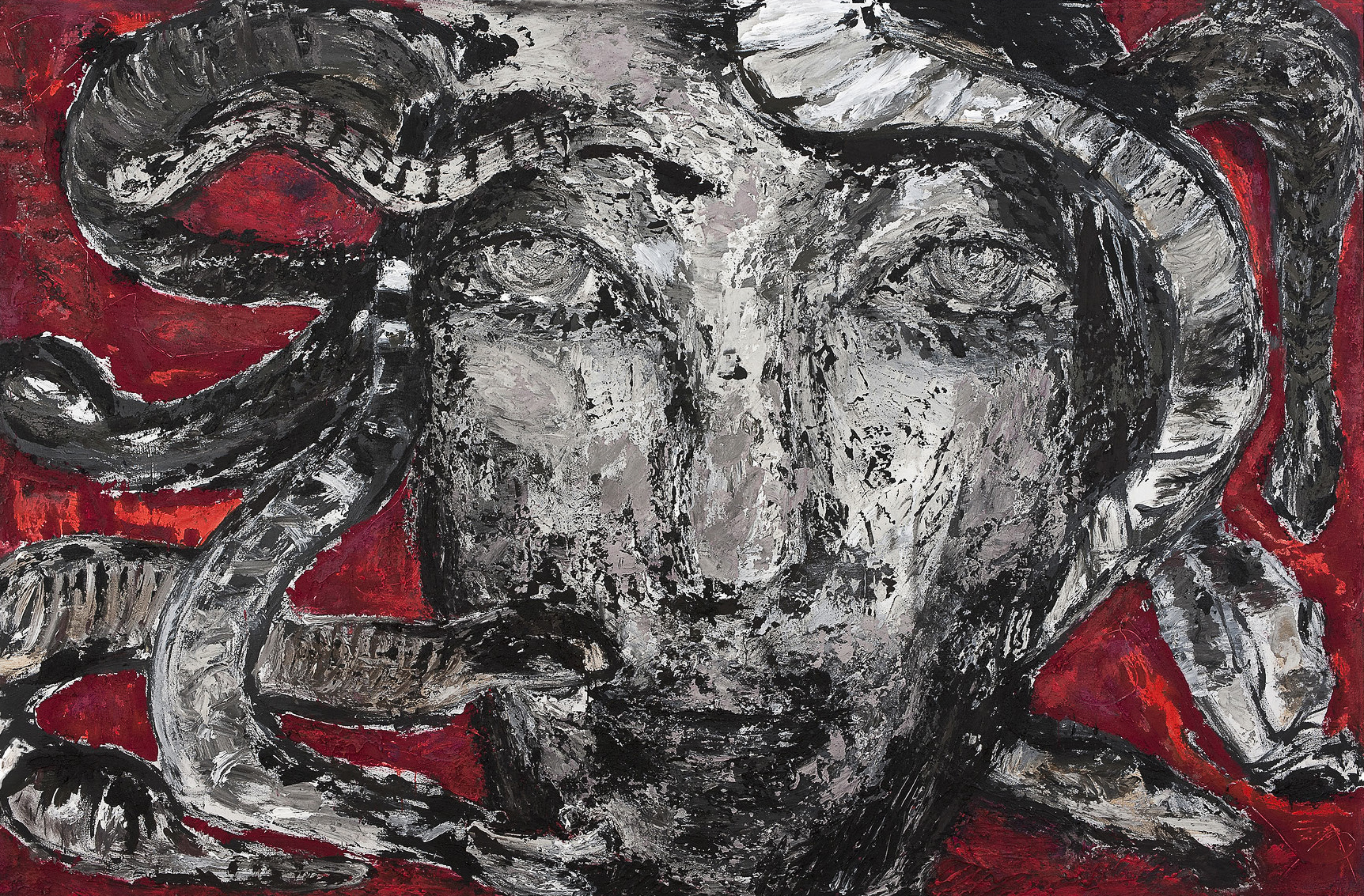Medusa, 2014, Mischtechnik auf Leinwand, 200 x 310 cm