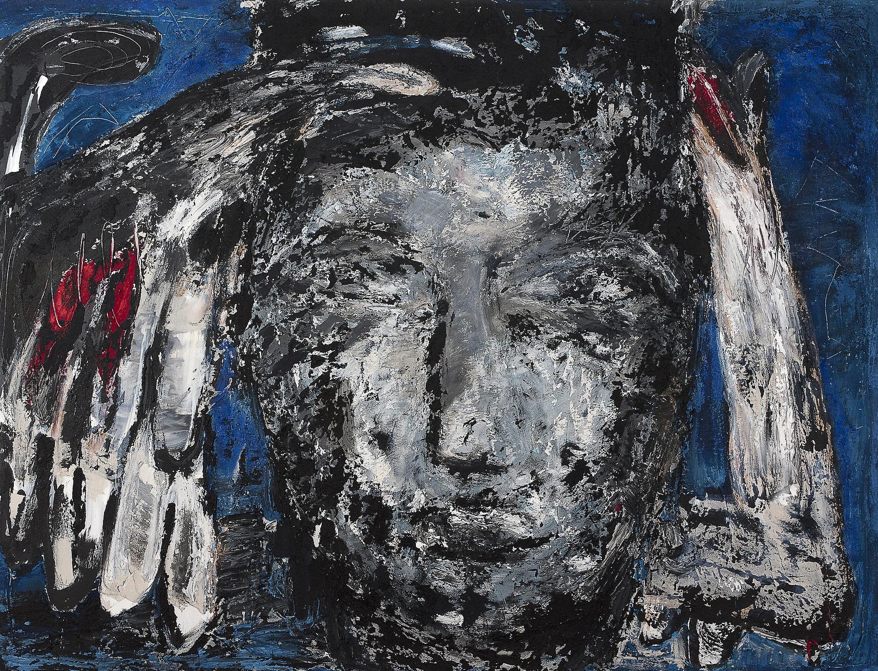 Ikarus, 2014, Mischtechnik auf Leinwand, 250 x 200 cm