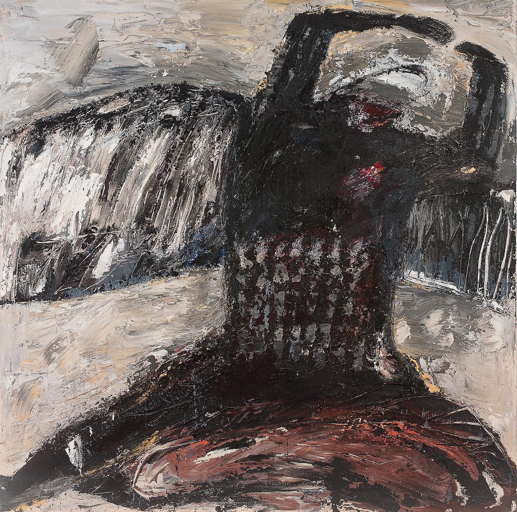 O.T., 2013, Mischtechnik auf Leinwand, 180 x 180 cm