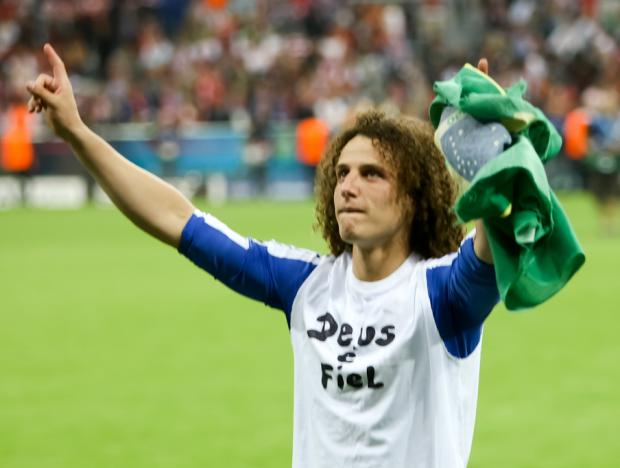 """""""Dios es fiel"""" David Luiz expresando su seguimiento a Jesús. Amén."""