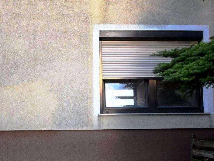Die Fassade vor dem Anlegen einer Musterfläche